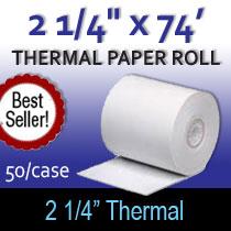2 1/4 x74 thermal paper