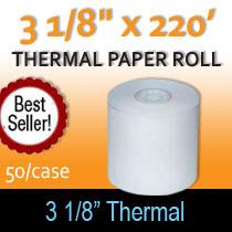 3 1/8 x220 thermal paper