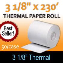 3 1/8 x 230 thermal paper