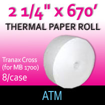 ATM 2 1/4 x 670 thermal paper