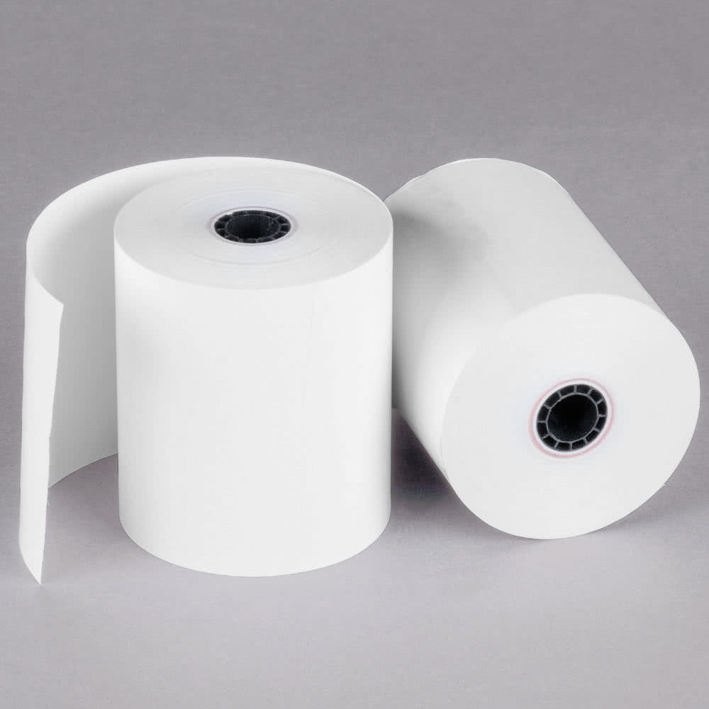 Credit card rolls 2 1//4 x 50 thermal paper 10 rolls